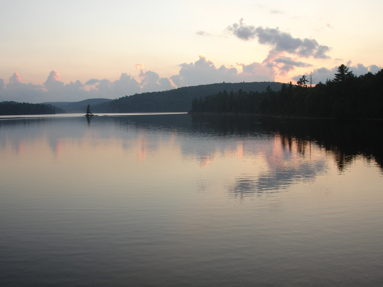 Sunset on Rock Lake