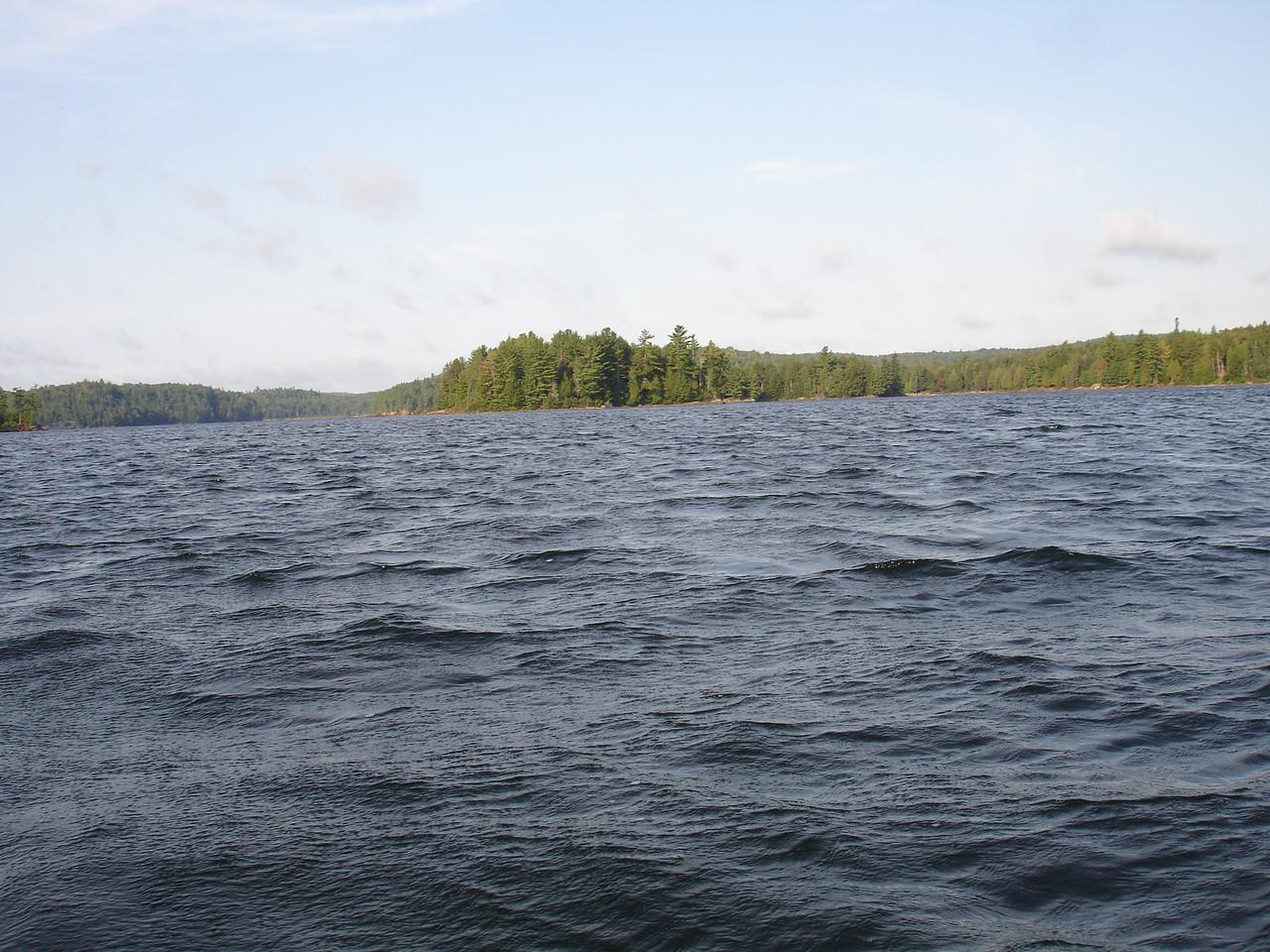 Looking back southwestward on Lake Louisa.