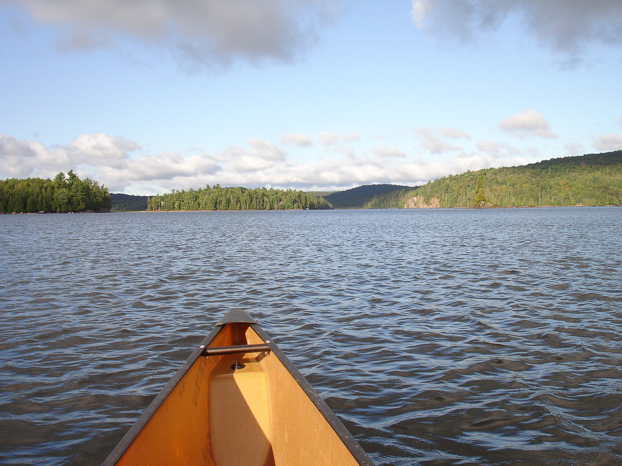 Next morning, heading south past those islands toward Pen Lake