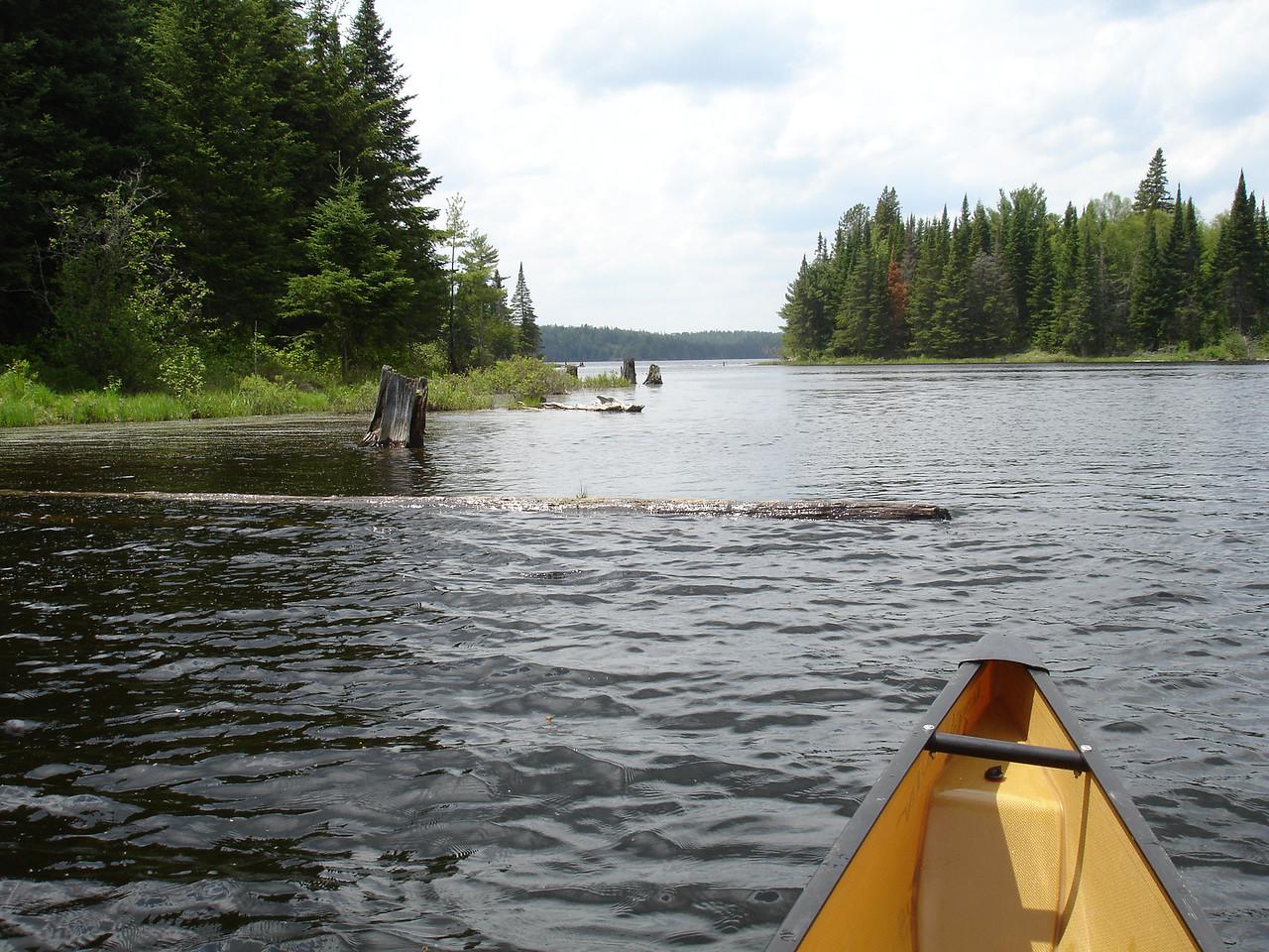 First glimpse of Tom Thomson Lake