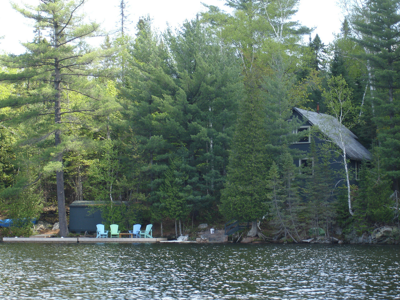 There are quite a few cottages on this route. This one is near the put in on Joe Lake.