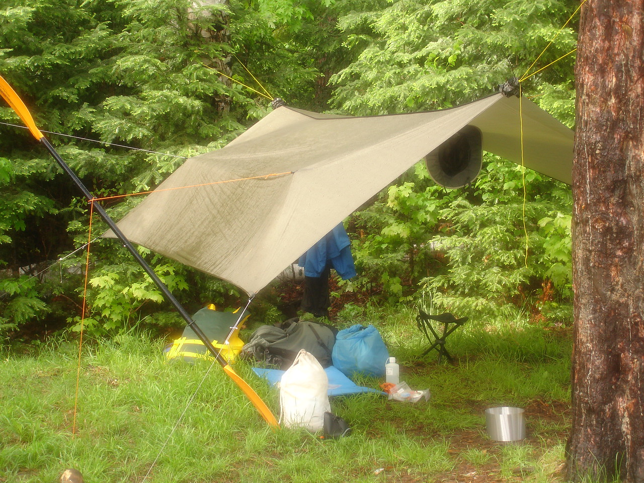 Tarp at campsite on Burnt Island