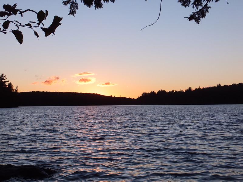 Sunset on Otterslide Lake