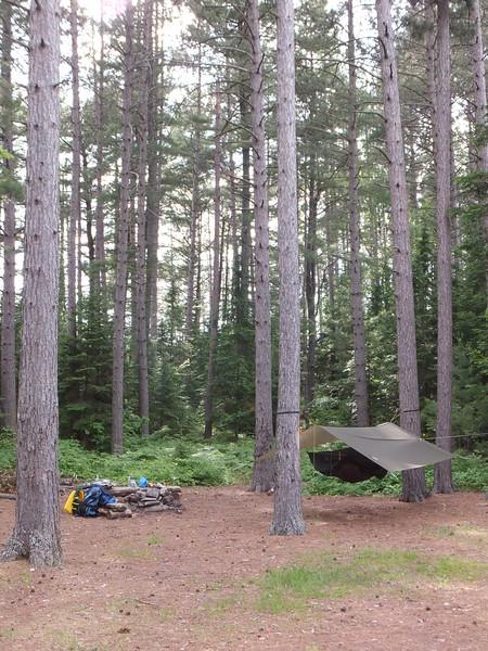 Island campsite