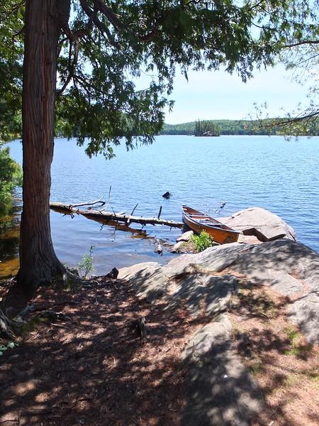 Lunch break on Tom Thomson Lake