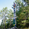 Totem Pole at Tom Thompson Cairn
