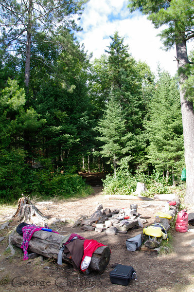Our campsite on Little Doe Lake