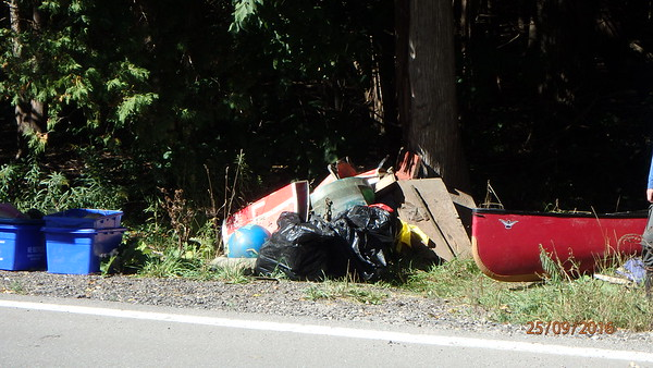 The pile of garbage we hauled out