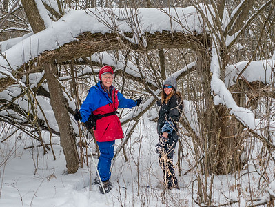 Snowshoeing in the Columbia Forest
