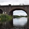 Railway Bridges at River Nene in Northamptonshire, England