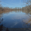 - but the drought had just been broken in this area of Georgia, <br /> and the Ocmulgee River was out of its banks!<br /> This is Hinson's Landing, our planned take-out point.<br /> February 21, 2013
