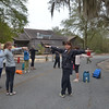 Parking lot exercises while everyone gets organized for our first day of canoeing.<br /> February 22, 2013