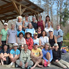 """2013 Canoe Group """"Official Photo"""", but missing Laura W. <br /> Okefenokee Swamp GA at  Minnie Lake Shelter<br /> February 24, 2013"""