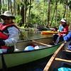 Barbara W. and Myungshin avoid Kathy B. - Jeri in kayak.