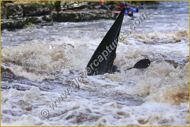 Flooded out slalom at Abbey Rapids England.