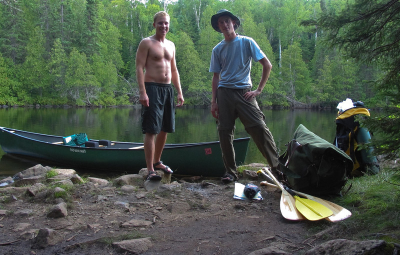 At the end of a 1 mile portage to start the trip off, which thankfully we didn't have to do on the return trip.