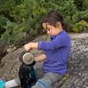 "Maddie was very helpful at ""making water""."