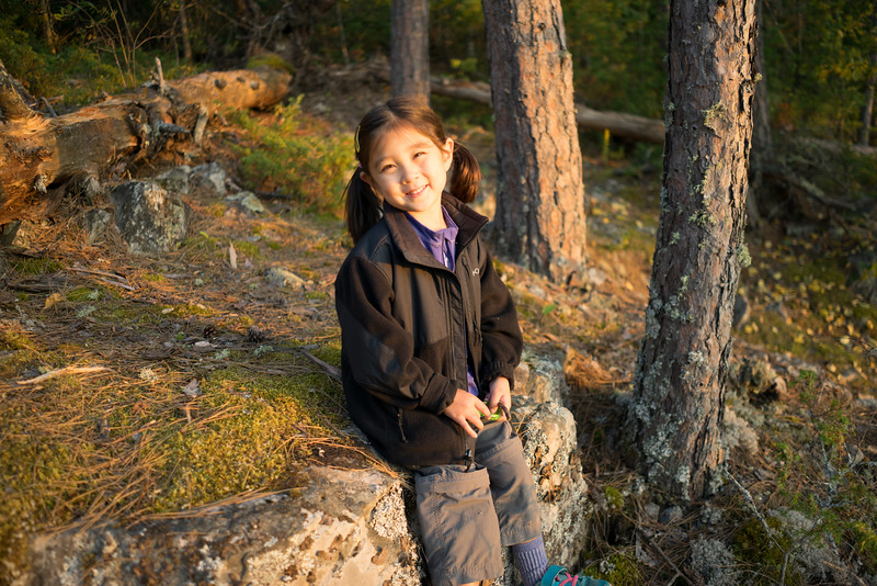 Maddie and I watched the sunset from a cliff above our campsite.