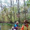 Jo, Liz, and Marcia amid the lilypads on the Ocklawaha River