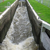 Cardington Lock - Awesome flow here! It has a top drop like Tacen! It zips through here to a stopper about 750mm high as the bottom level tries to crawl up the lock.  No cruisers used the lock today :-)
