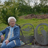 Virle Payne tries out the new bench honoring her very good friend, Emily Cottingham Stuart.<br /> April 26, 2012