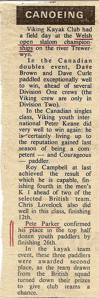 Race 3 - Tryweryn Welsh Open 24-25 May 1975 - Report