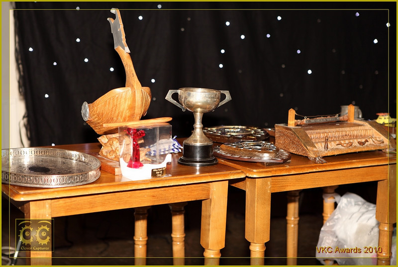 Some of the silverware, glassware and woodwork to be won!
