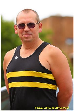 Peter Smart in the Club's Bumble Bee racing vest