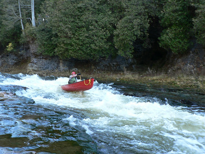 Elora Gorge in Open Canoes