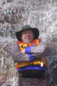Winner of the People Category. WWCC Photo Contest 2011. Bronte Creek in the spring. Jean frolics with the Falls Photo by: Don McMurtry