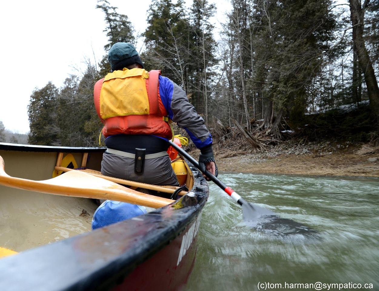 Bayfield River Clinton to Bayfield, April 3/11 - Photo by Tom Harman