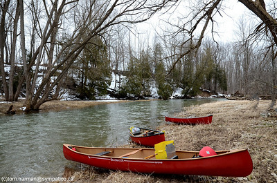 Bayfield River Clinton to Bayfield, April 3/11 - Photo by Tom Harman