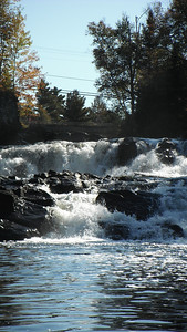 Marsh's Falls, September 2011 put-in at Dwight Beach, head across the bay to the Oxtongue River, paddle down to the Falls ( right near Bondi at Hwy 35) then back to Dwight Beach. A perfect Sunday morning paddle - and no shuttle!