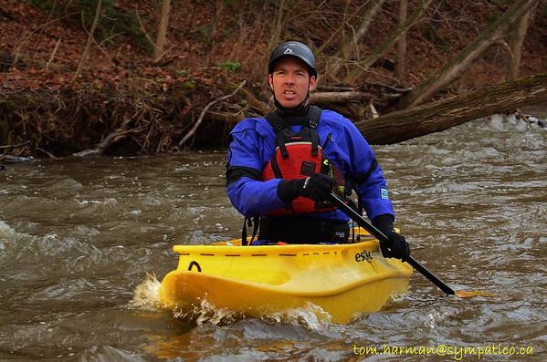 """This Brian's first paddle with his new """"Spanish Fly"""".  He assures us that it's a canoe... despite it being 8 ft long and contains the paddler in a very Kayak like cockpit. Brian did however make us all look like amateurs with his skill and grace!"""