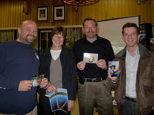 WWCC Christmas Social and Photo Contest.  The winners of the Club Photo contest with some spectacular entries.
