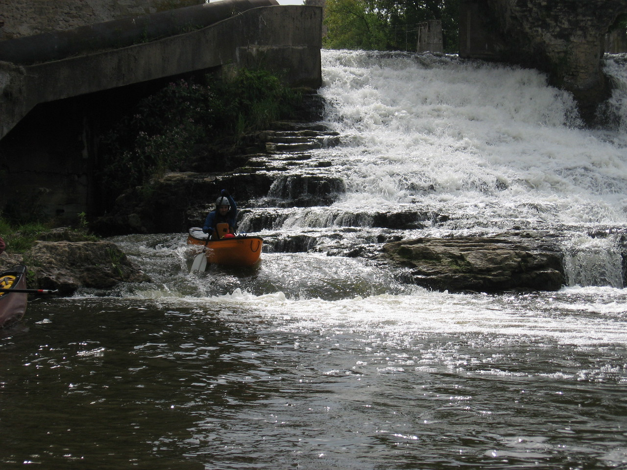WWCC paddles the Elora Gorge on August 28, 2011 Photo by: Nick Wagner