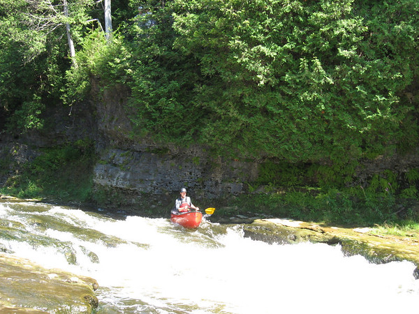 Paddling the Elora Gorge with the Waterloo Wellington Canoe Club.  Photo by Nick Wagner