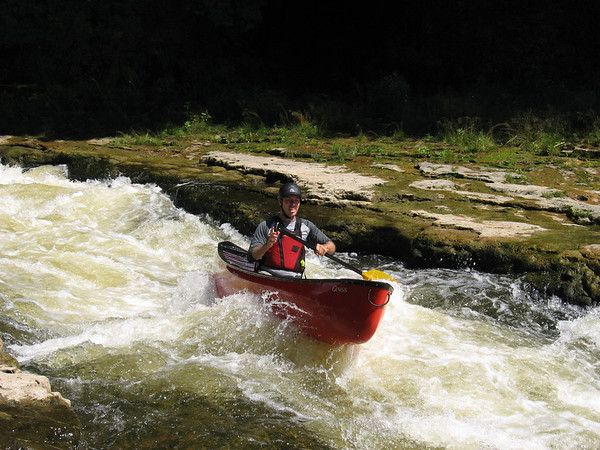 "Paddling the Elora Gorge with the Waterloo Wellington Canoe Club - Brian ""No AirBags"" Fleet. Photo by Nick Wagner"