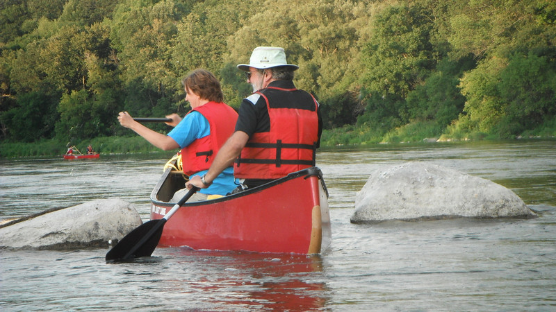Paddling the Grand River: Glen Morris to Paris on August 16, 2011. Waterloo Wellington Canoe Club Activity.