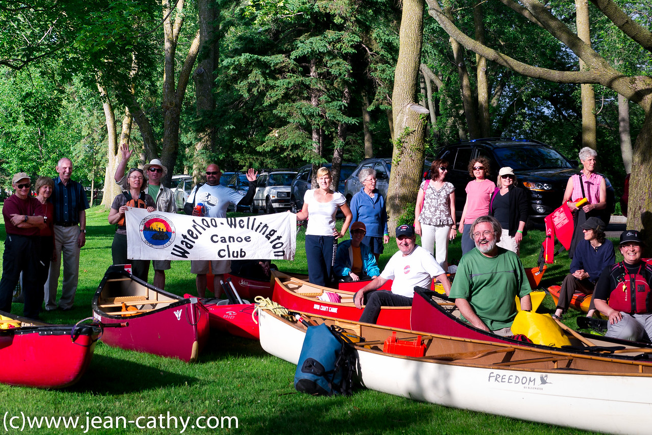 Waterloo Wellington Canoe Club at Riverside Park in Guelph celebrate National Canoe Day.