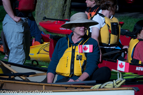 Waterloo Wellington Canoe Club at Riverside Park in Guelph celebrate National Canoe Day.  Photo by Jean Lefebvre