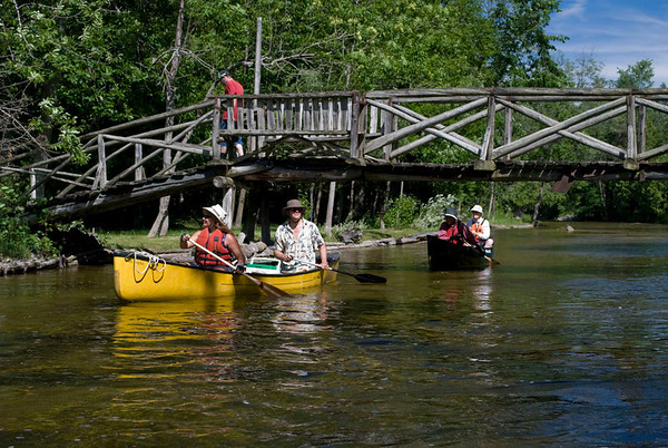 North Saugeen River on July 3, 2011.  Photos by Peter Hafemann