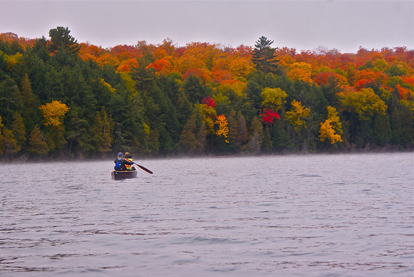 James, Erla, & Cali experience the colors of Algonquin in the Fall