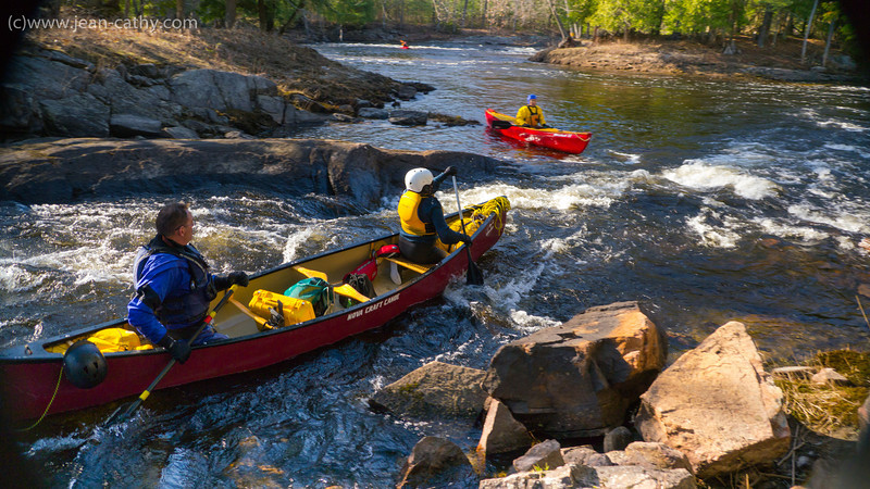 """The Black River near Washago in Ontario has a short but very entertaining section of whitewater. """"Bell Ringer"""" or """"Black Velvet"""" Rapid is a nice chute that carries very little consequence in case of an upset. Good Thing!"""