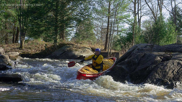 "The Black River near Washago in Ontario has a short but very entertaining section of whitewater. ""Bell Ringer"" or ""Black Velvet"" Rapid is a nice chute that carries very little consequence in case of an upset. Good Thing!"