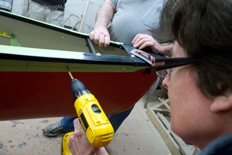 Making holes with power tools, great way to blow off steam. (Sorry about the holes Ron!)
