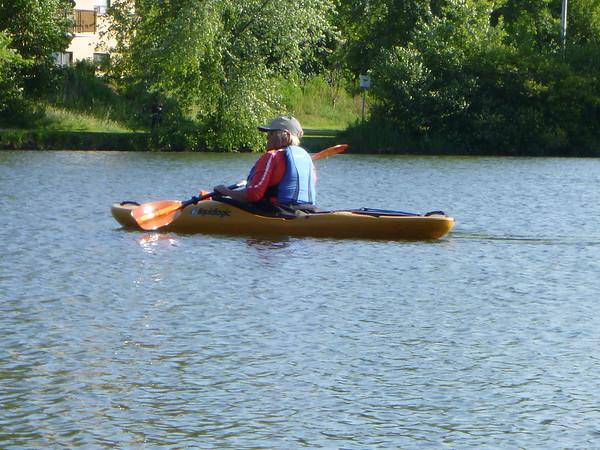 Marianne in snubby kayak