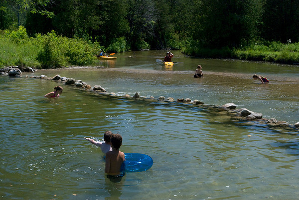 second swim hole on the North Saugeen River trip of July 1, 2012. Peter Hafemann