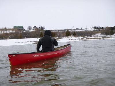 Hugh paddling