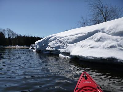 big snowbank